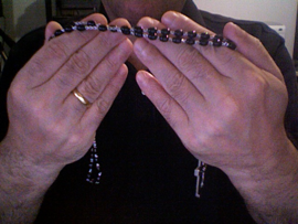 How to Hold the Rosary, Step 2