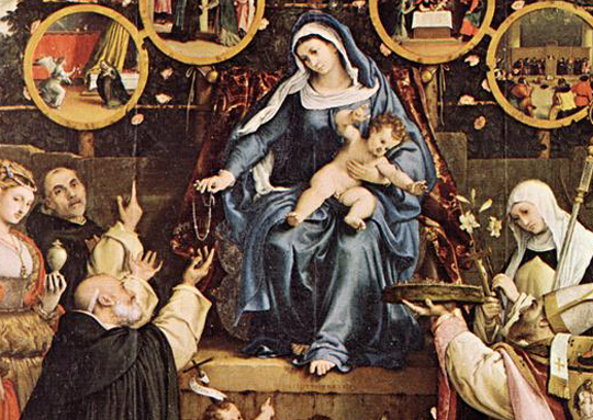 Detail from Madonna of the Rosary