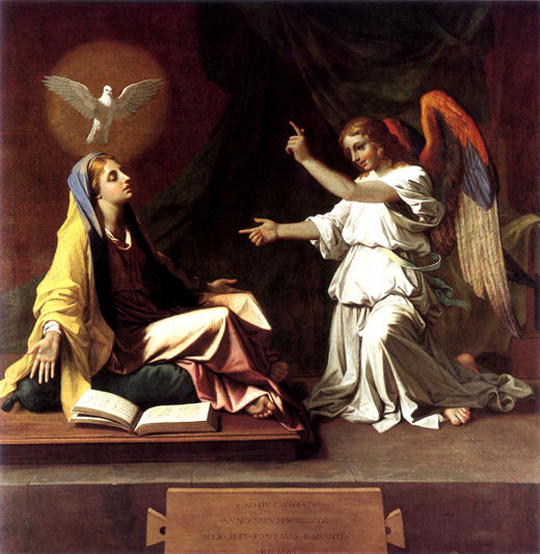 The Annunciation by Poussin