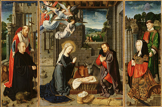 The Nativity by Gerard David, ca. 1510-15