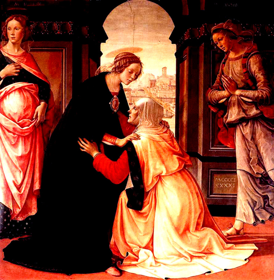 The Visitation by Ghirlandaio, 1491